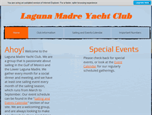 Tablet Preview of lagunamadreyachtclub.org